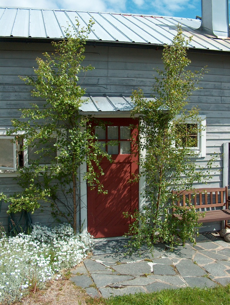 Birch branches are to be placed outside your door