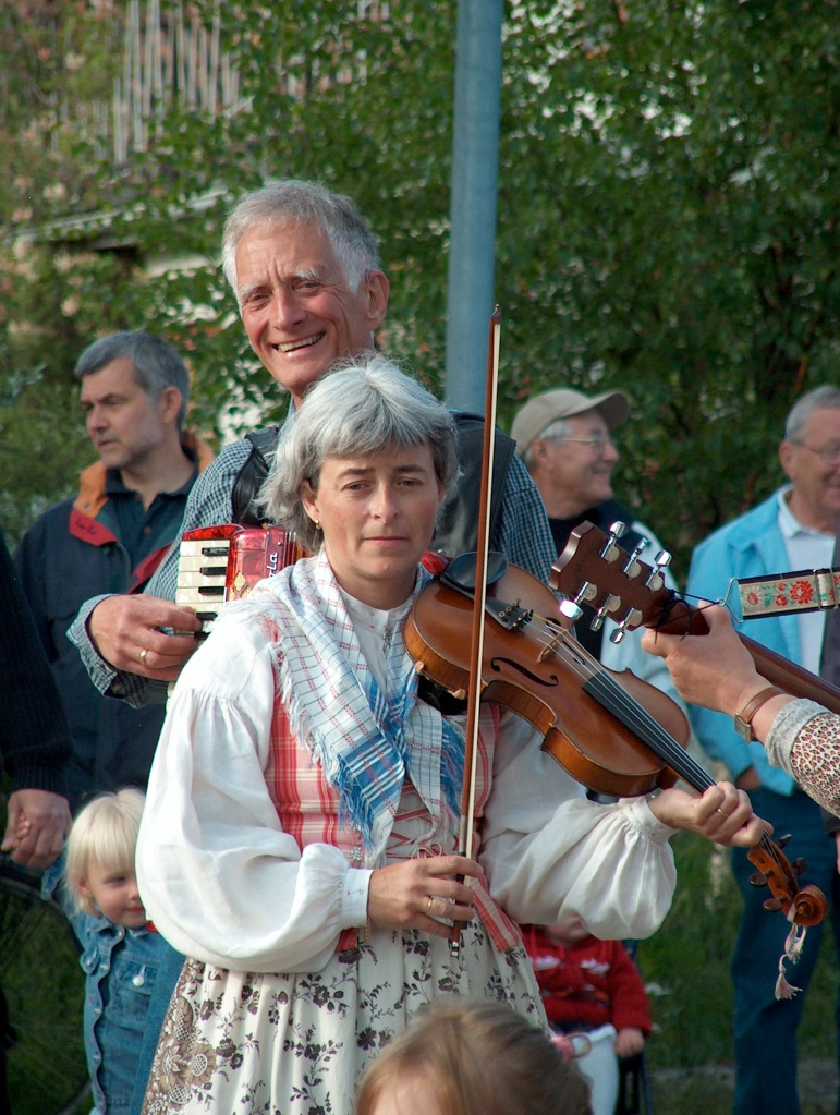Traditional costumes and instruments can be seen on this day