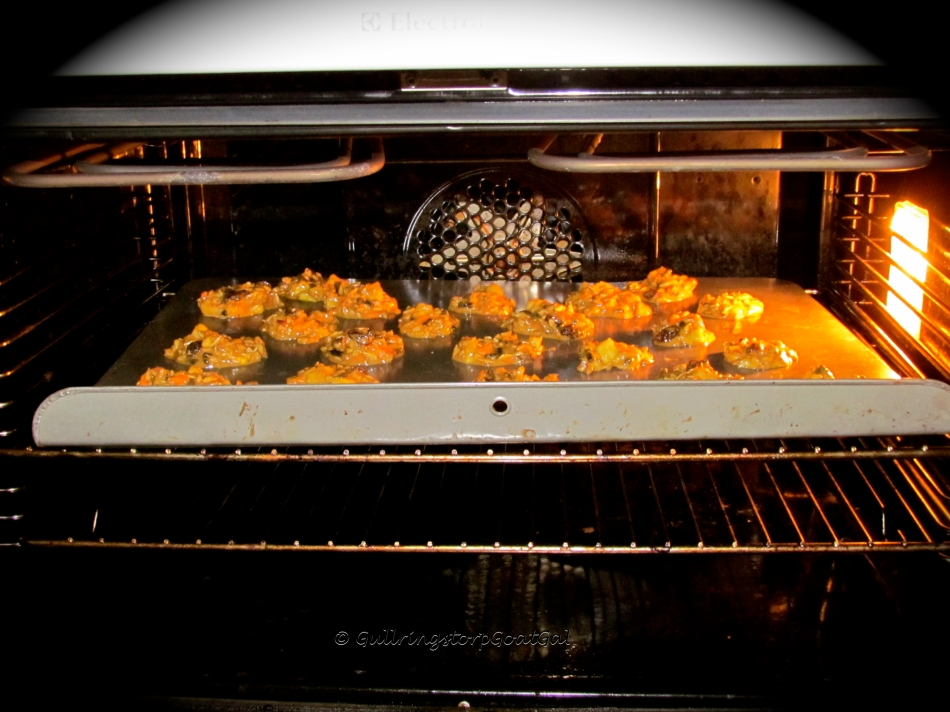 Step 4 : In the oven with my little Goat Treats