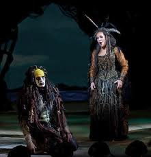 Sycorax sings to her sad son, Caliban