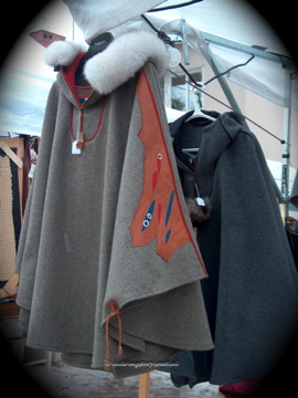 Beautiful hand made Sami capes
