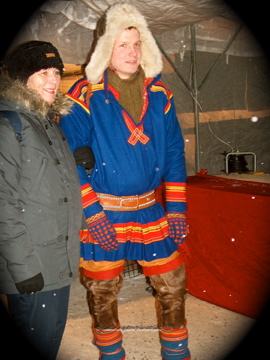 Just one of the many handsome, proud Sami men