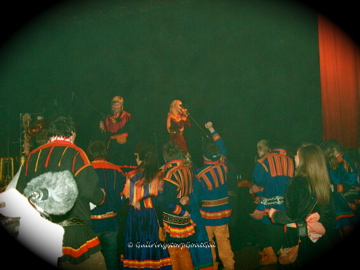Here is the live Sami band playing Sami music at the dance