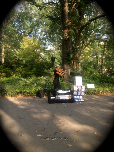 A wonderful violinist played Vivaldi in Central Park