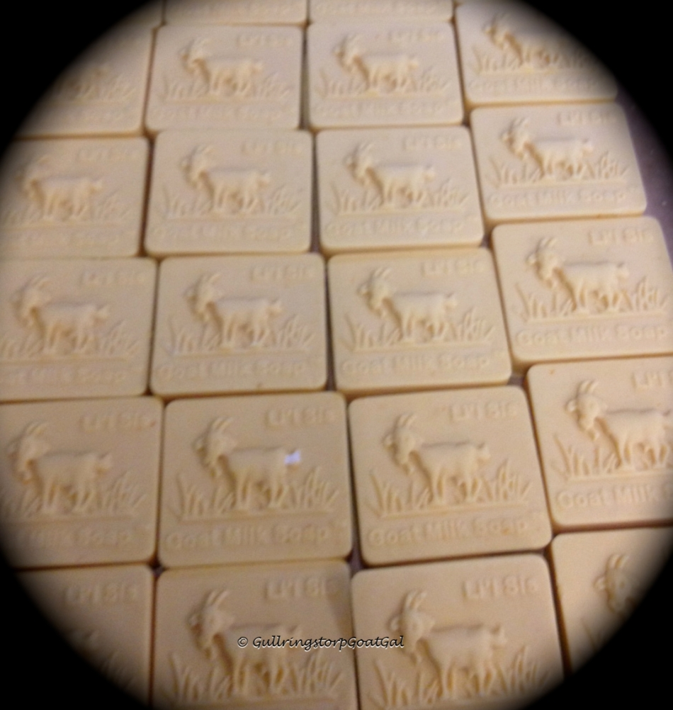 A new batch of Milk and Honey soap made with my goat's milk.                                          Available at www.lilsisgoatsmiksoap.com