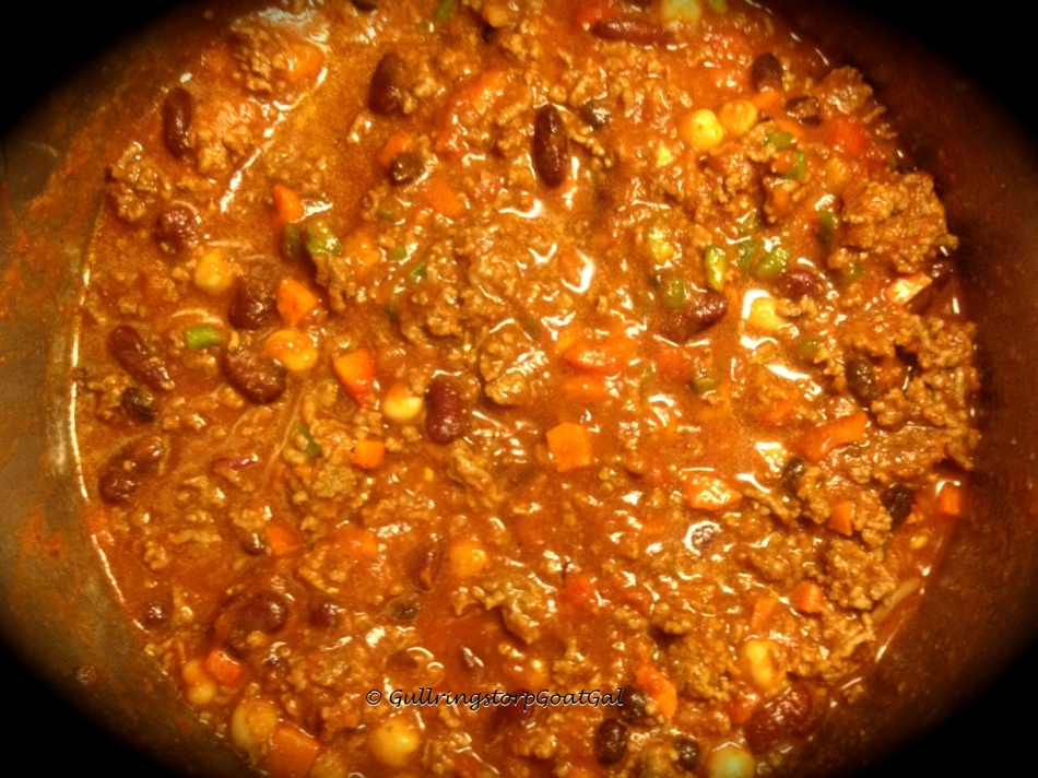 While Leif worked hard shoveling 2 properties, I kept busy preparing a war, lunch for when he came in and preparing a warm delicious meal, chili.