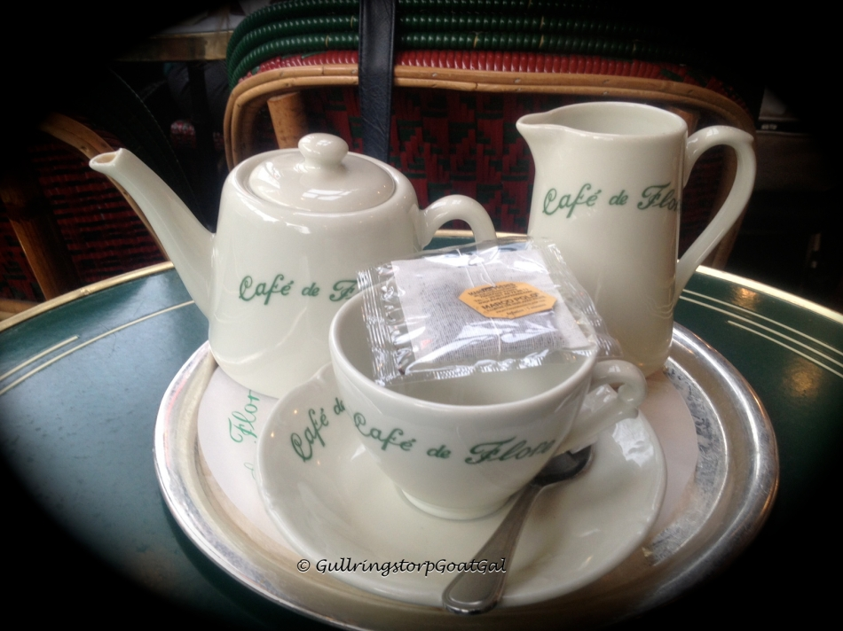 Tea service at Cafe Flore
