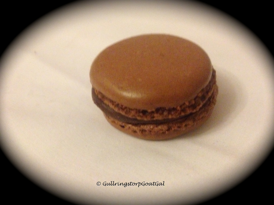 A chocolate macaroon... just delightfully delicious...