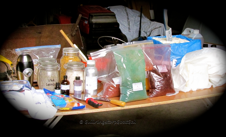 Soap Making supplies were on display and discussed