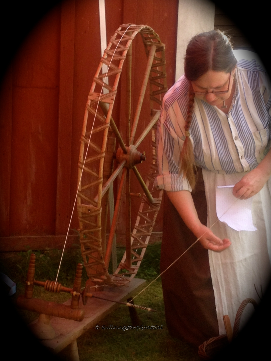 This lady was very skillful with the wool and that spinning wheel