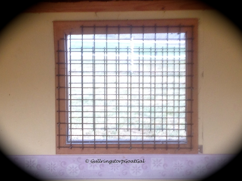 Safty grids were placed on the windows