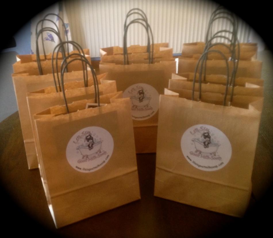 Li'l Sis Goat Milk Soap gift bags